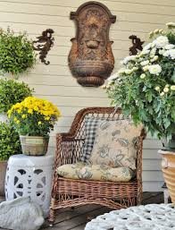 antique homes and lifestyle fall porch tour traditional fall porch decorations