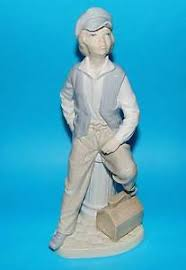 nao by lladro figurine shoeshine boy ornament 1st quality