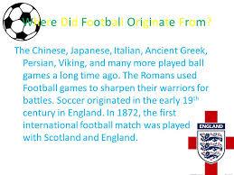 history of football sami 8e ppt