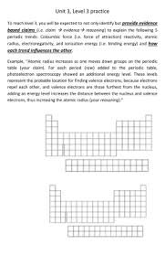 periodic trends practice answer key