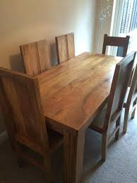 Chunky Rustic Dining Table Mango Wood Dining Room Table Mango Wood Dining Room Set