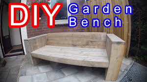 Diy Timber Bench Seat Plans by How To Build An Garden Lounge Seat Sofa Xl Time Lapse Modern