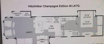 hitchhiker rv floor plans 2001 nuwa hitchhiker ii 38 lktg fifth wheel tulsa ok rv for sale