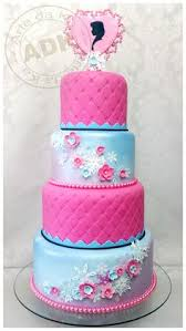 elsa anna olaf snowflake cake purple turquoise blue