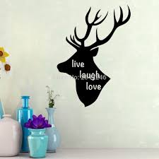 popular live live laugh buy cheap live live laugh lots from china cartoon live laugh love wall sticker animal deer head wall decals for living room sitting room