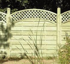 Curved Trellis Fence Panels Decorative European Fence Panels Bentinck Fencing