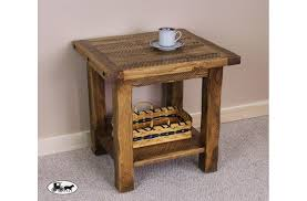 rustic pine end table end table the wood carte real wood furniture amish rustic