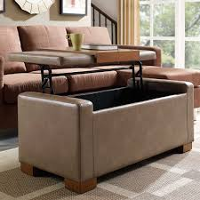 Coffee Table With Lift Top And Storage Linon Home Davis Lift Top Storage Ottoman In Pebble Apartment