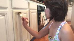 Photos Of Painted Kitchen Cabinets Amy Howard Kitchen Makeover How To Paint And Distress Kitchen