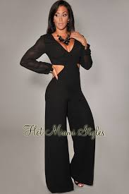 black and gold jumpsuit gold cuff sleeves jumpsuit
