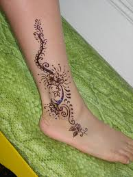 henna tattoo u2013 fabulous henna on ankle 2 tattooshunter com