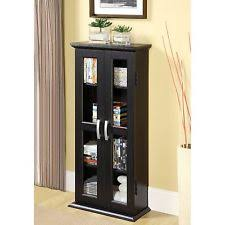 Modern Curio Cabinets Modern Wood Cabinet Glass Display Curio Case Media Storage Small