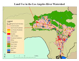 Los Angeles Area Map los angeles river watershed
