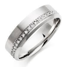 mens wedding rings uk palladium diamond men s wedding ring 0005117 beaverbrooks the