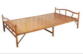 Wooden Folding Bed 1 0x1 9cm Modern Folding Bed Indoor Bamboo Furniture Single