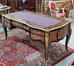 bureau marqueterie bureau royal en marqueterie boulle 180cm style napoleon iii second