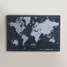 World Map Poster With Pins by Amazon Com World Travel Map Pin Board Modern Slate Handmade