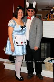 coolest homemade alice in wonderland couple costumes