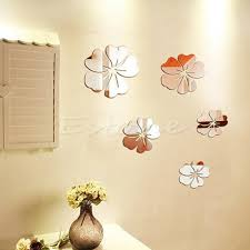 compare prices on floral acrylic wall decor online shopping buy 5pcsfree shipping new hot mirror style removable decal vinyl art wall sticker home decor colored floral