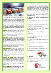 english teaching worksheets christmas reading