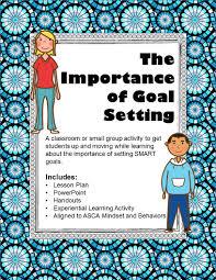 Setting Smart Goals Worksheet The Importance Of Setting Smart Goals The Middle Counselor