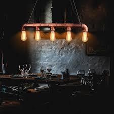 Lampe F Esszimmer Online Shop Vintage Edison Pendelleuchte Retro Wasserleitung