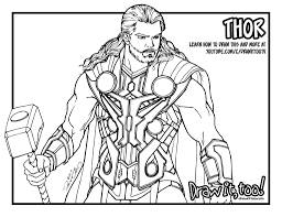 Thor Avengers Age Of Ultron Draw It Too Thor Coloring Page