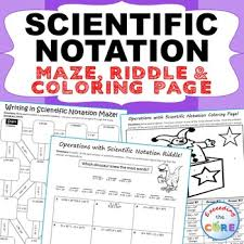 multiplying and dividing scientific notation worksheet scientific notation maze riddle coloring page math