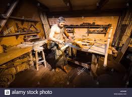 an ark encounter diorama shows noah u0027s woodworking shop aboard the