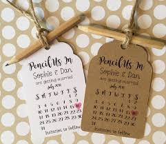 pencil us in rustic calendar save the date tags cards with