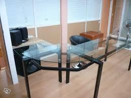 bureau verre angle bureaux d angle en verre occasion