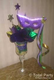 mardi gras peacock centerpiece i made for a baby shower things