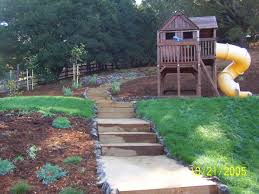 Backyard Slope Landscaping Ideas Backyard Slope Landscape Design Triyae Ideas For A Sloped