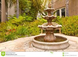 california backyard smal backyard garden fountain san diego california stock image