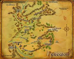Lord Of The Rings Map Eregion The One Wiki To Rule Them All Fandom Powered By Wikia
