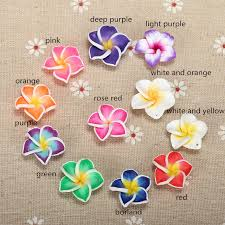 plumeria flower 20pc lot 20mm yiwu market beautiful soft clay polymer fimo