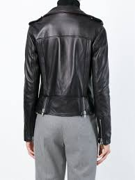 biker jacket sale muubaa u0027vila u0027 cropped biker jacket in black lyst
