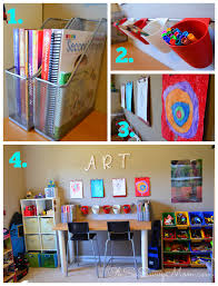 homework station or homeschool area in small spaces