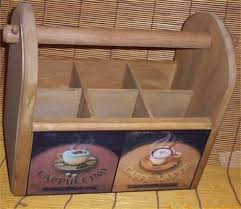 Cafe Home Decor Wood Utensil Holder Coffee Latte Deluxe Cafe Home Decor House