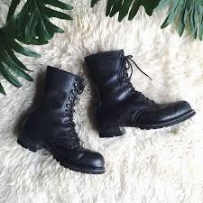 s lace up combat boots size 12 vintage combat boots s size 12 subzero insulated black leather