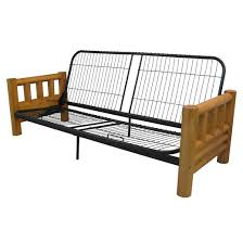 sofa futon lodge futon sofa sleeper bed frame sit n sleep target