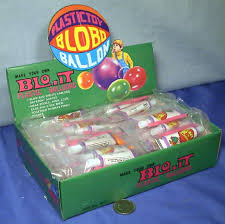 plastic balloons blobo balloon store display set 1960 s blo it plastic balloon gunk