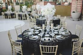 black and white wedding decorations a glamorous black and white wedding every last detail