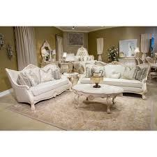 aico living room set michael amini chateau de lago wood trim sofa living room set