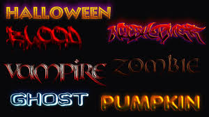 halloween text style pack download youtube
