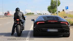 lamborghini vs smart car honda cbr1000rr vs lamborghini huracan on highway trass az car