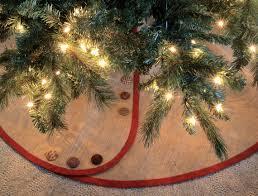 burlap christmas tree skirt rustic christmas tree skirts for a primitive christmas