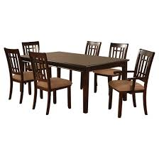 Wooden Dining Room Set Iohomes 7pc Simple Dining Table Set Wood Dark Cherry Target