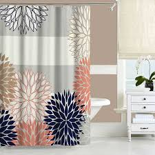 Coral And Gray Curtains Excellent Grey And Coral Shower Curtain Pictures Best