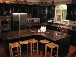 kitchen cabinets painted black interior design